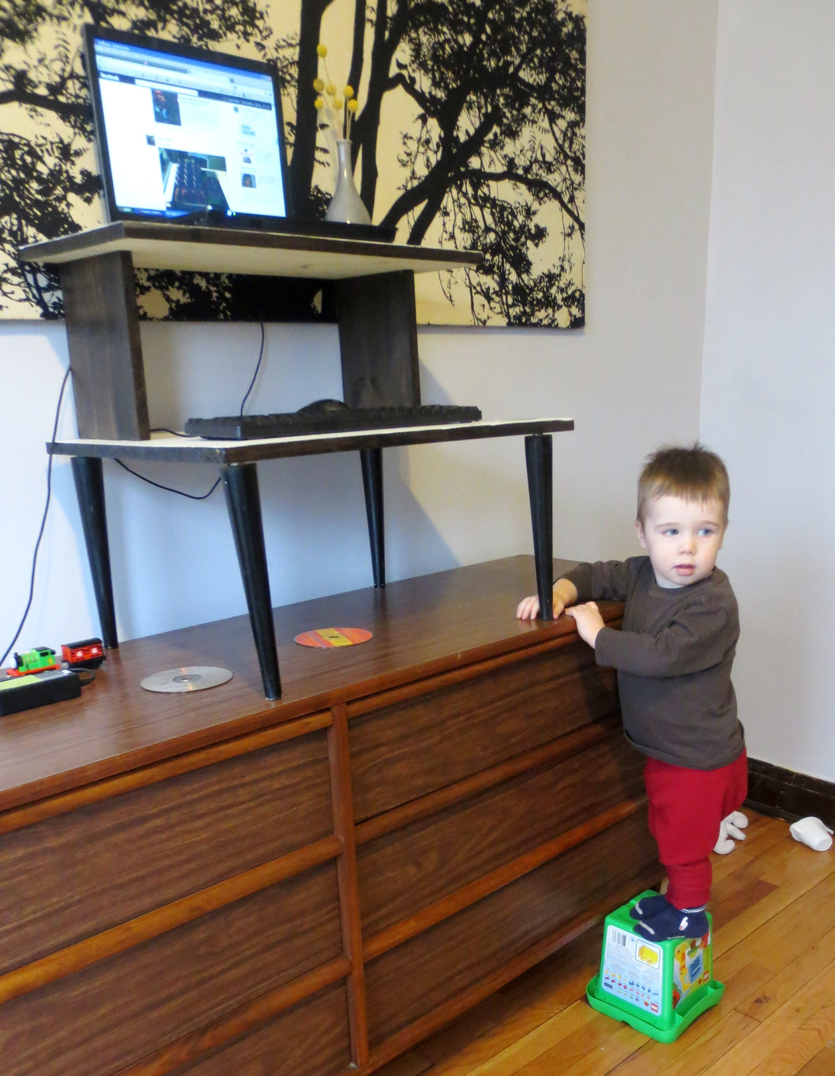 Image of: Make Your Own Mid Century Modern Standing Desk Projectophile