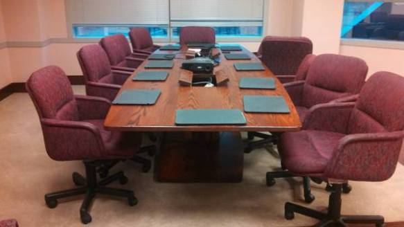 """Amish"" conference table."
