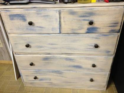 You can't fool me with your bad paint job, Shabby Chic -- I know an IKEA dresser when I see one.