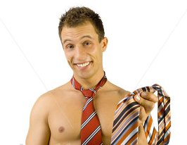 Be sure to iron on the highest possible heat -- just in case your tie was donated by a male stripper.