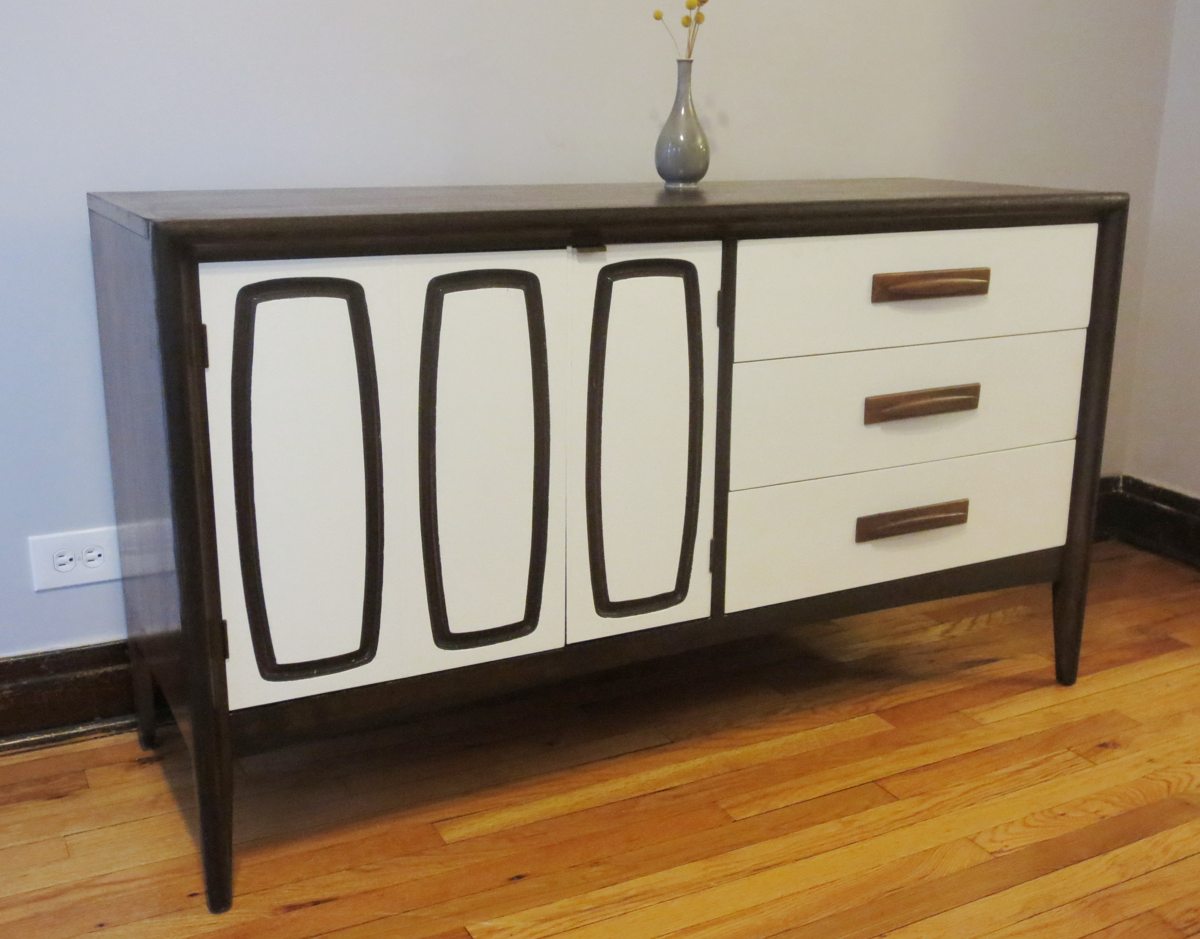 Late Mid Century Modern Makeover Two Toned Credenza