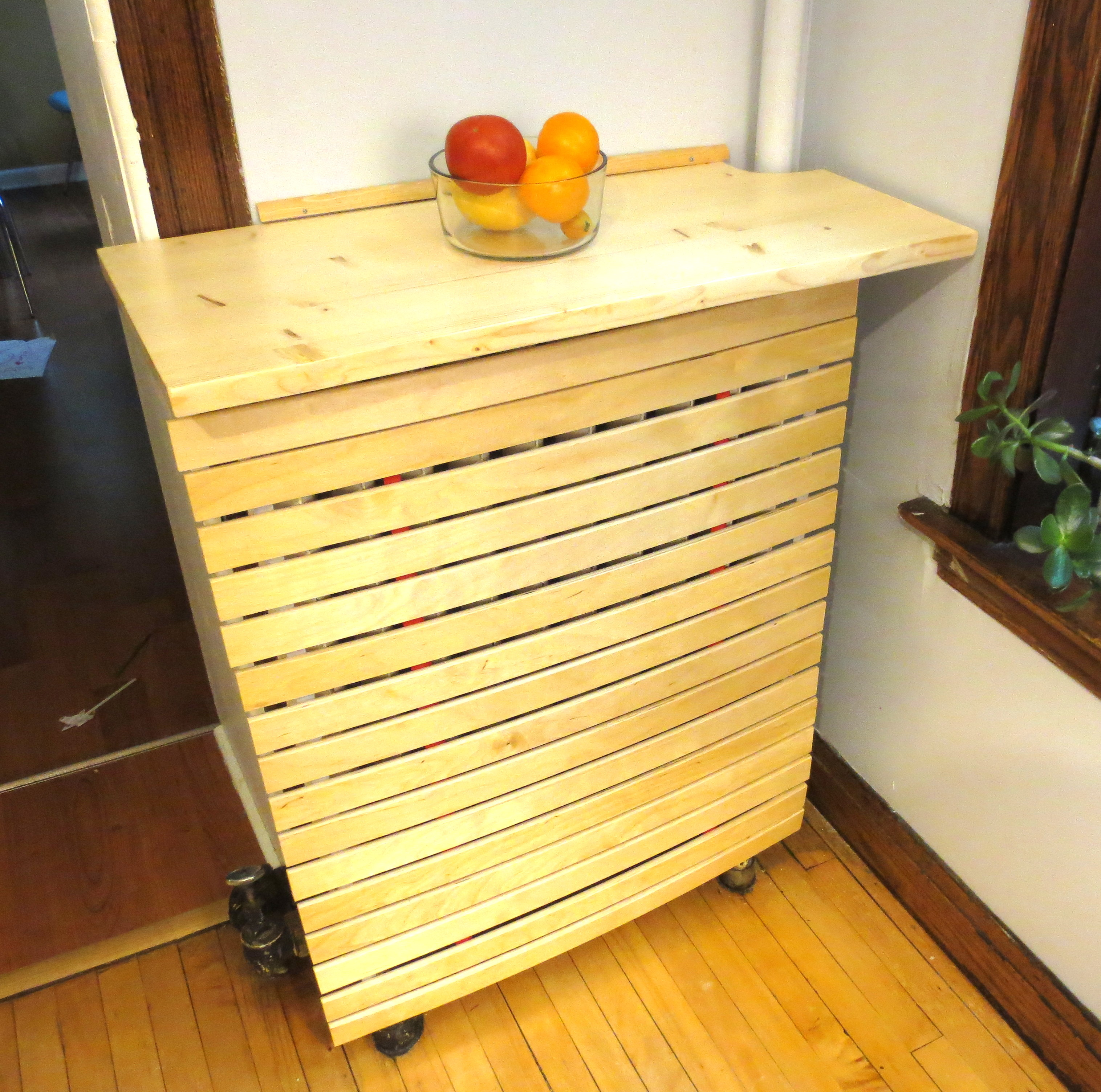 Rusty Victorian To Danish Modern Cover Your Radiator With Old Ikea Bed Slats Projectophile