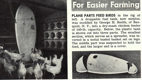 plane parts feed birds