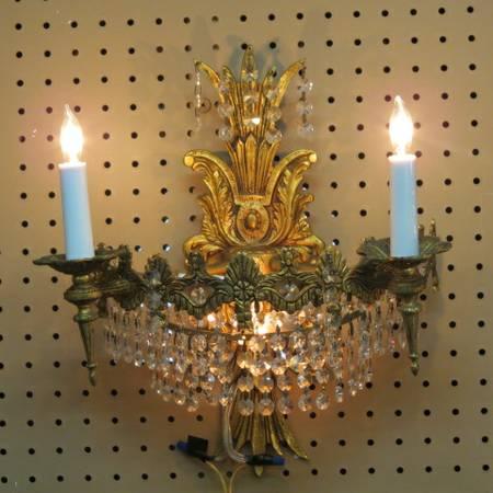 pegboard chandelier