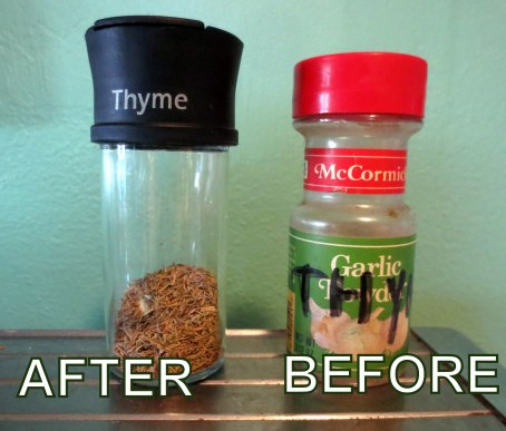 THYME BEFORE AND AFTER