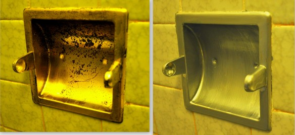 toilet paper holder before and after